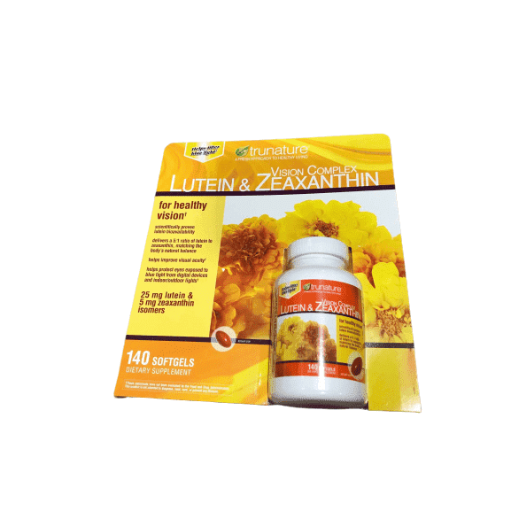 Trunature Lutein and Zeaxanthin Softgels, 140 Count - ShelHealth.Com