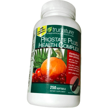 trunature TruNature Prostate Plus Health Complex - Saw Palmetto with Zinc, Lycopene, Pumpkin Seed - 250 Softgels