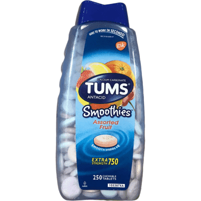 Tums TUMS Extra Strength Smoothies, 250 Chewable Tablets