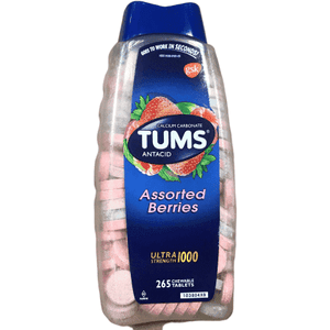 Tums Tums Ultra Assorted Berries 265 Tablets - Maximum Strength Antacid & Calcium Supplement