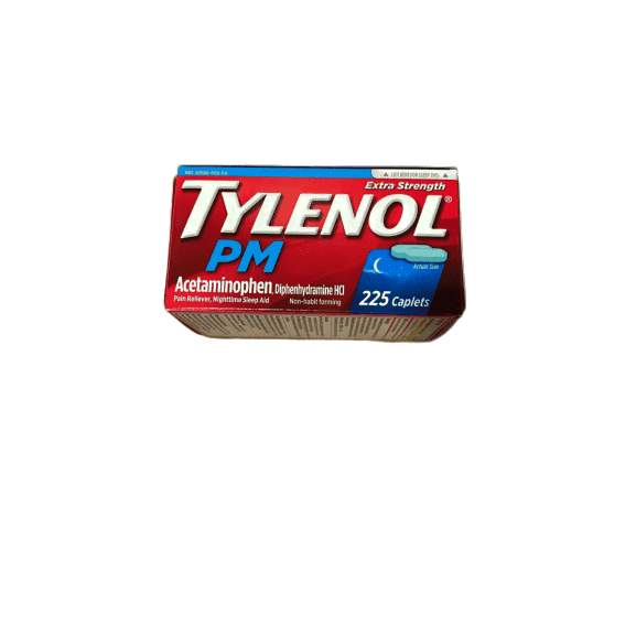 Tylenol PM Caplets - 225 ct. bottle - ShelHealth.Com