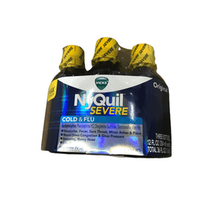 Vicks Vicks NyQuil Severe Cold & Flu Liquid Original Flavor Triple Pack 3 x 12 Fl Oz