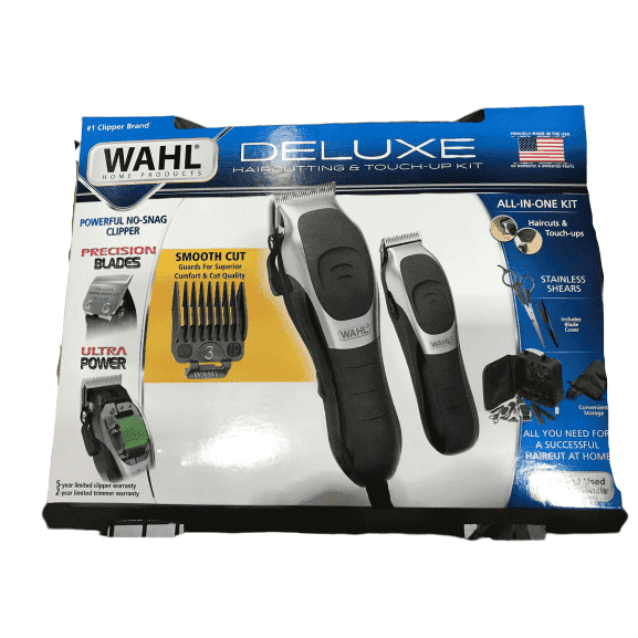 Wahl Deluxe Premium Haircutting & Touchup All-in-One kit with Precision Blades - ShelHealth.Com