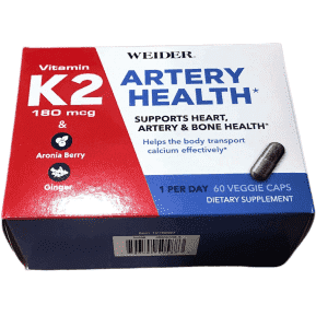 Weider Weider Artery Health Supplement with Vitamin K2, 60 Veggie Caps