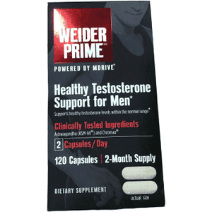 Weider Prime Weider Prime Low-T Supports Energy, Strength, Focus, Stress, Lean Muscle - 120 capsules