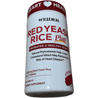 Weider Prime Weider Red Yeast Rice Plus with Phytosterols 1200 mg per 2 Tablets - 240 Tablets