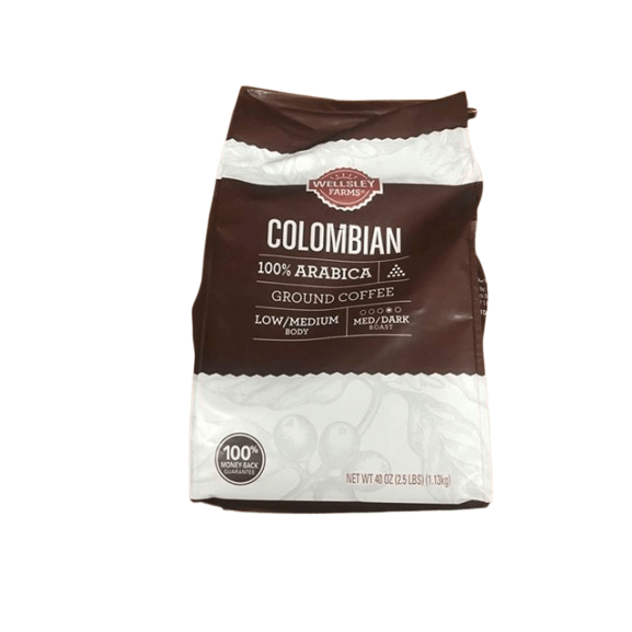 Wellsley Farms Wellsley Farms Colombian Ground Coffee, 40 oz.