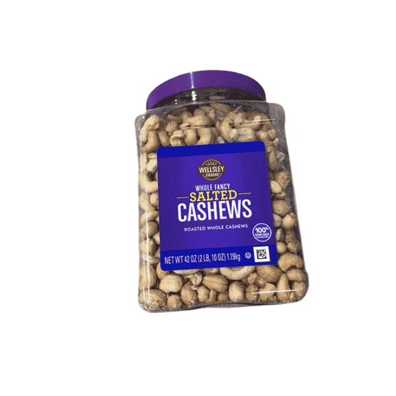 Wellsley Farms Wellsley Farms Whole Fancy Salted Roasted Whole Cashews, 42 oz.