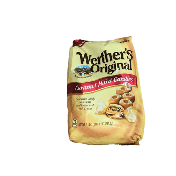 WERTHER'S ORIGINAL Caramel Hard Candies, 34 Ounce Bag - ShelHealth.Com