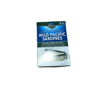 Wild Planet Wild Planet Sardines in Extra Virgin Olive Oil, Keto and Paleo, 4.4 Ounce  (Pack of 6)