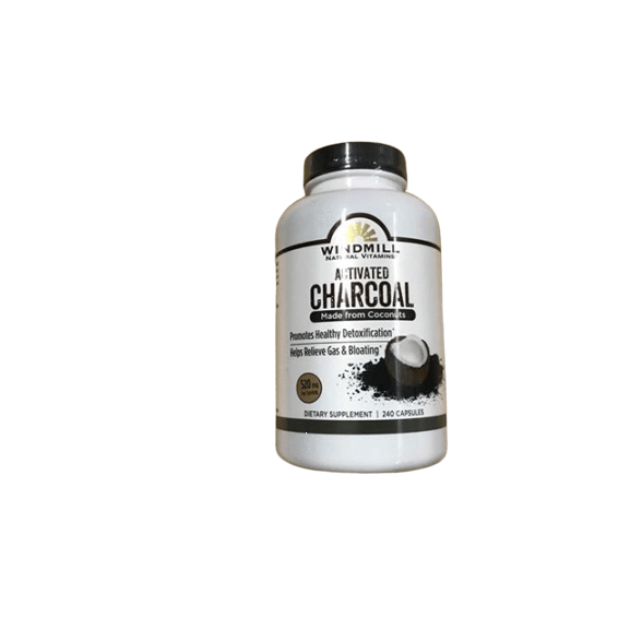 Windmill Windmill Activated Charcoal Dietary Supplement Capsules, 240 ct.