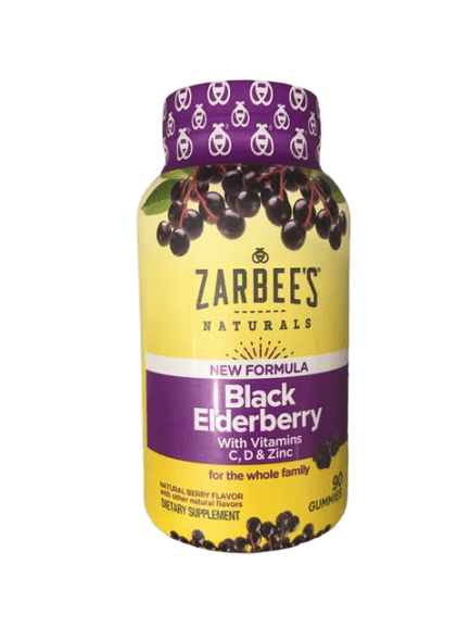 Zarbee's Zarbee's Naturals New Formula Black Elderberry, 90 Gummies
