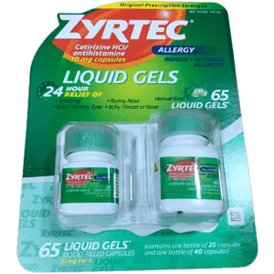 Zyrtec Zyrtec Allergy Liquid Gel - 10 Mg. 65 Count.