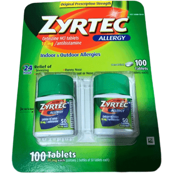 Zyrtec Zyrtec Allergy Tablets, 10 mg- 100 tabs.