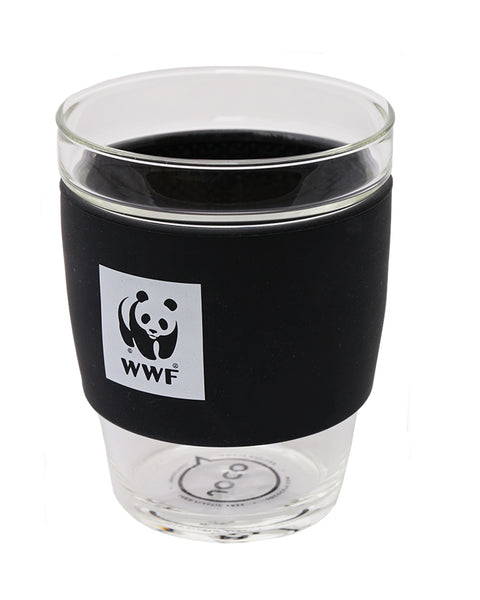 JOCO Reusable Glass Cup - lid off