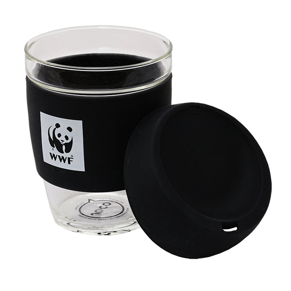 JOCO Reusable Glass Cup - lid to the right