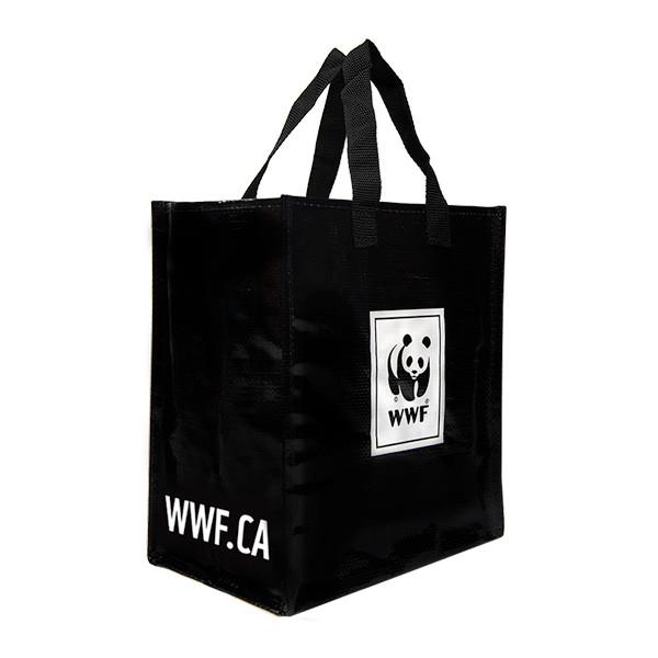 Black WWF tote bag