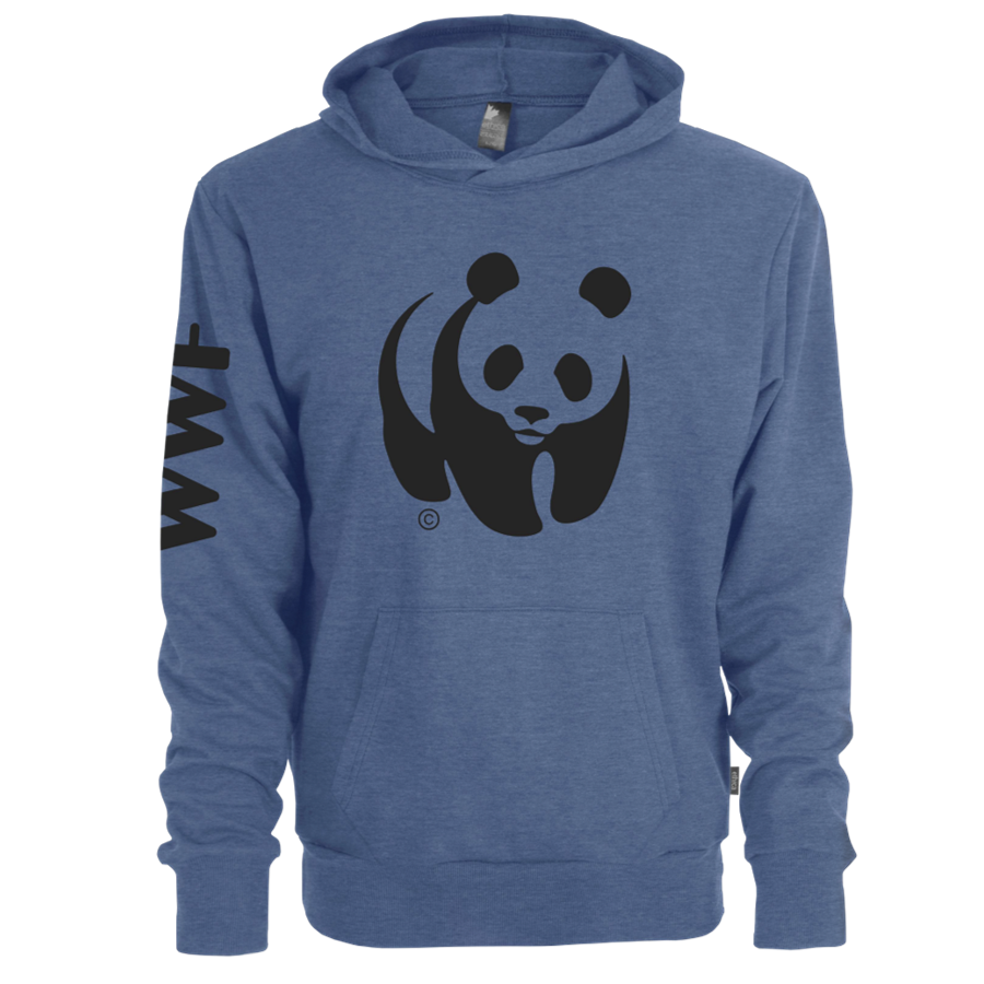 WWF Adult Unisex Hooded Blue Sweatshirt