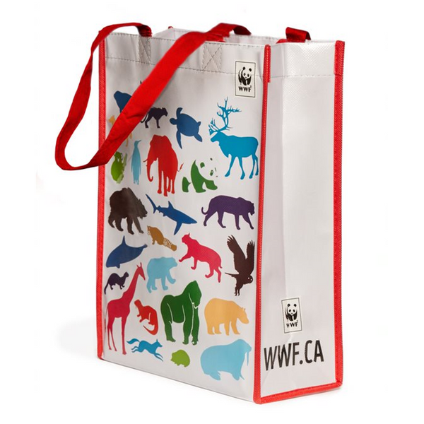 Wildlife print WWF tote bag
