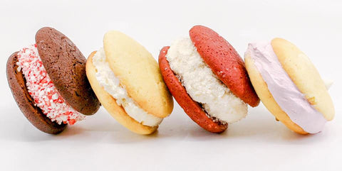four christmas whoopie pies