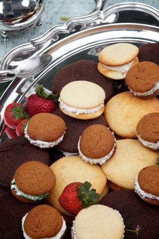 assorted sizes and flavors of whoopie pies