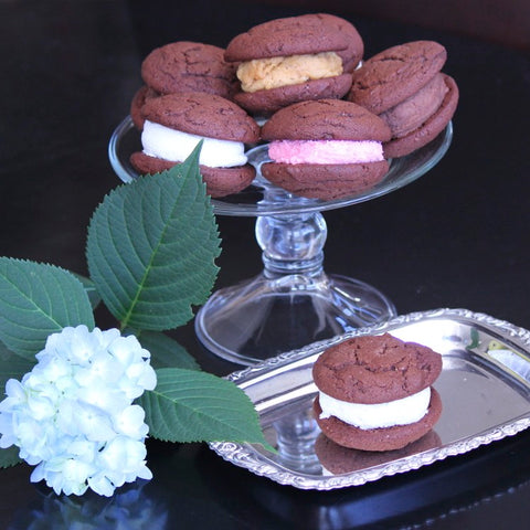 Rich chocolate potato gourmet whoopie pies