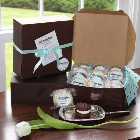 dozen box of whoopie pies by cape whoopies