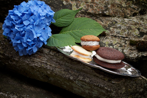 flower blooming with whoopie pies