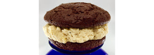 chocolate and peanut butter whoopie pie