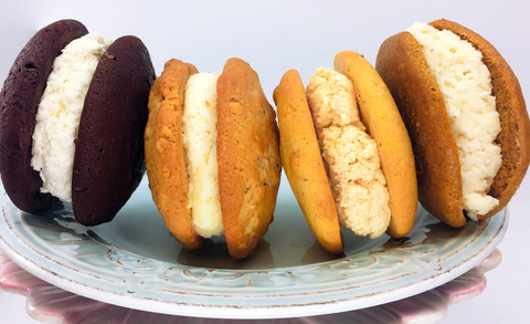 assorted wintertime whoopie pies on a plate