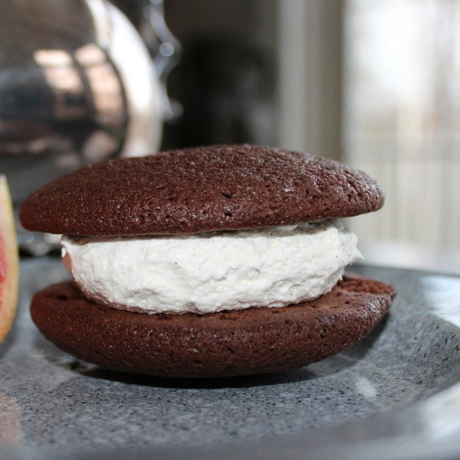 Chocolate cake with bourbon cream filling gourmet whoopie pie