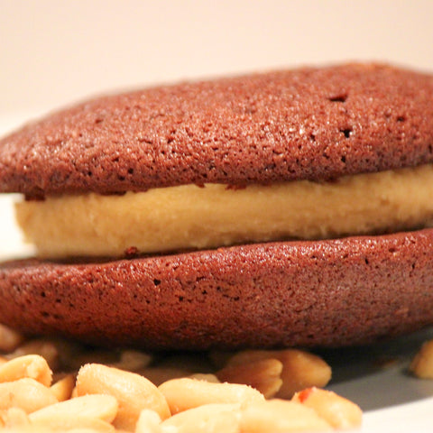 salted caramel whoopie pie close up