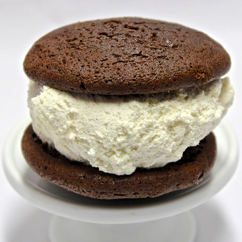 maine-iac chocolate and vanilla whoopie pie