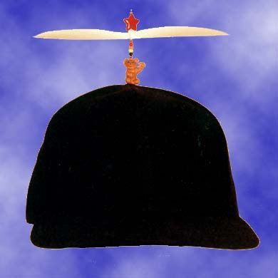 Adult Black Propeller Hat With Brim (no patch)
