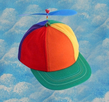 Adult Multi-Colored Propeller Hat With Brim (no patch)