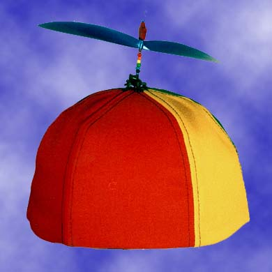Adult Multi-Colored Propeller Hat Brimless (no patch)
