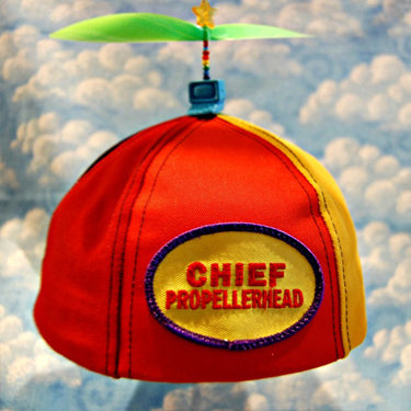 Adult Multi-Colored Propeller Hat Brimless (with patch)