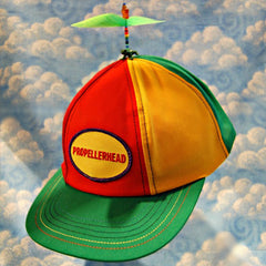 Adult Multi-Colored Propeller Hat With Brim (with patch)