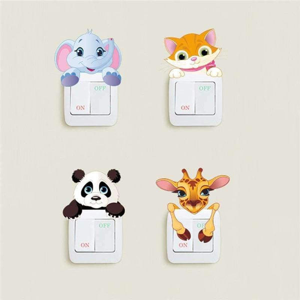 Cute Animals Light Switch Sticker - LifeStar