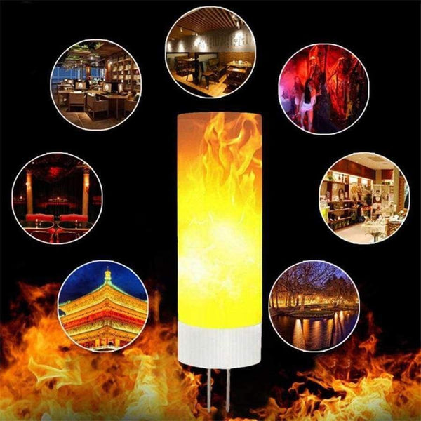G4 LED flame bulb Fire Lamp mesh led fire effect light bulb