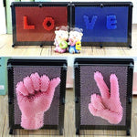6 color Plastic Face Print 3d Clone Funny Prank Toy Hand Mould Toy - LifeStar