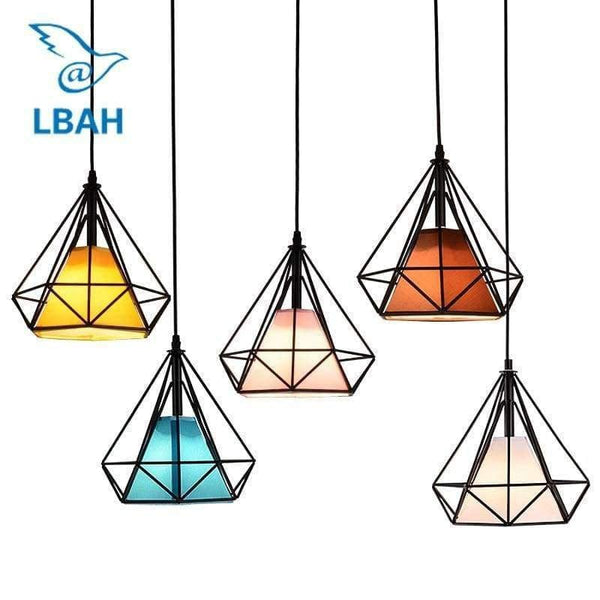 Led Bulb Colorful Birdcage Pendant Lights - LifeStar