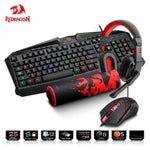 RGB Keyboard mouse pad earphone combo