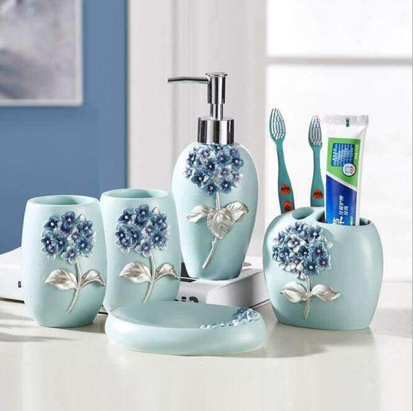 European-style home bathroom wash five-piece creative resin - LifeStar