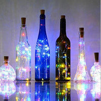 2M 20 LEDS Wine Bottle Lights With Cork Built In Battery - LifeStar
