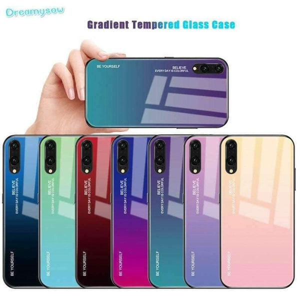 Gradient Glass Phone Case Case For Huawei - LifeStar
