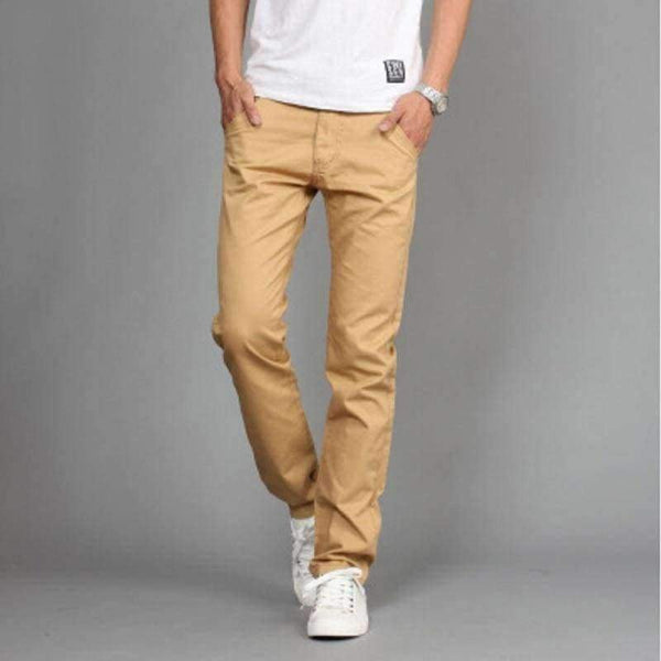 l Men Cotton Slim Pant Straight - LifeStar
