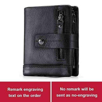 Engraving Name Genuine Leather Wallet
