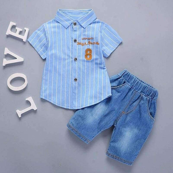 Baby Boys Girls Clothes Infant Casual Suits Shirt Shorts 2Pcs/Sets - LifeStar