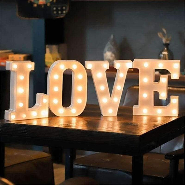 16CM LED Letter Night Light - LifeStar